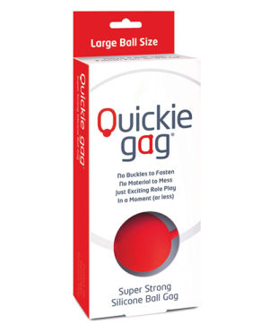 Quickie Ball Gag Large – Red