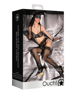 Shots Ouch Under The Bed Bindings Restraint System – Black